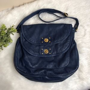 Marc Jacobs Blue Leather Crossbody